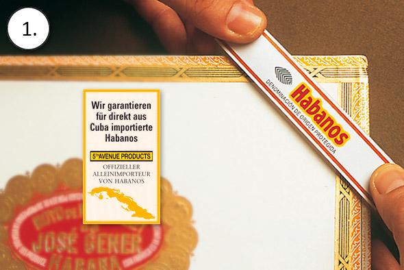 ZigarrenSchachtel.de Qualitätsgarantie: Einkauf auschließlich von Originalzigarren
