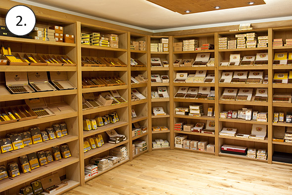 Perfekte Zigarrenlagerung im begehbaren Humidor