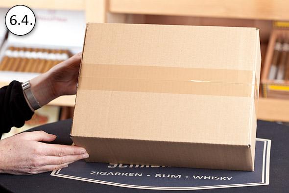 Das Paket ist bereit für den Versand