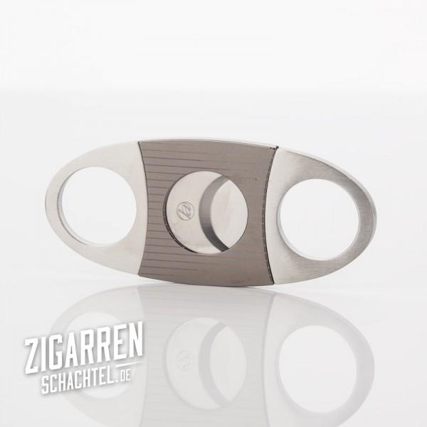 Zigarrencutter Chrom/Satin/Gunmetal Streifen 22mm Schnitt