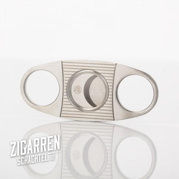 Zigarrenschneider chrom/satin Streifen 22 mm