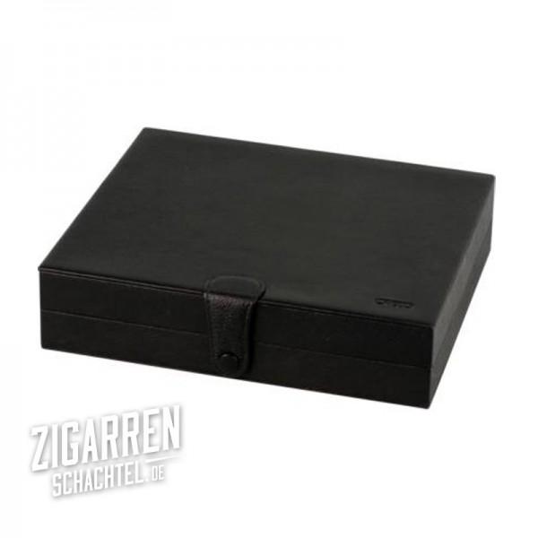 Credo Reisehumidor Leder schwarz für ca. 10 Zigarren
