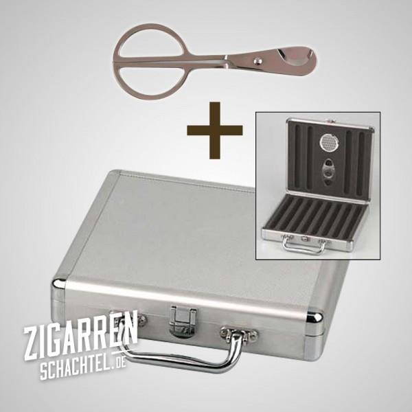 Bundle Reisehumidor + edle Zigarrenschere