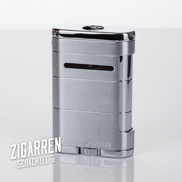 Xikar ALLUME Triple Jet-Flame Zigarrenfeuerzeug silber