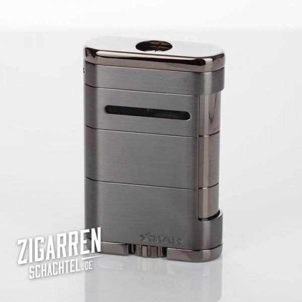 Xikar ALLUME Triple Jet-Flame Zigarrenfeuerzeug gunmetal