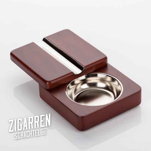 Zigarrenaschenbecher Rosenholz schwenkbar