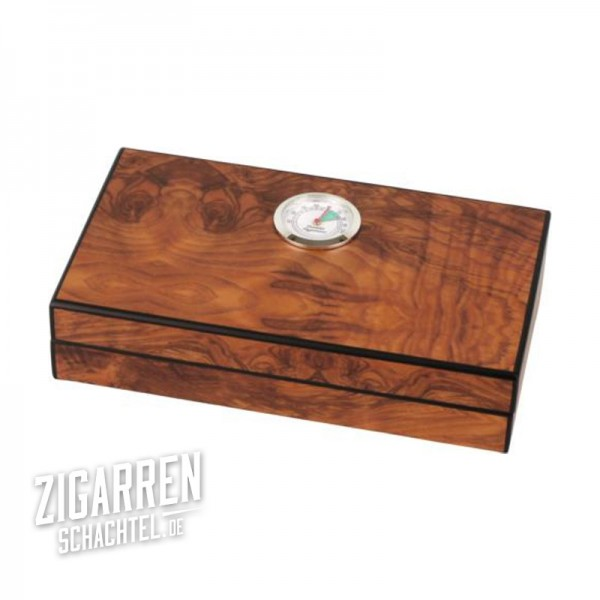 Mini Zigarren-Humidor Wurzelholzdekor matt
