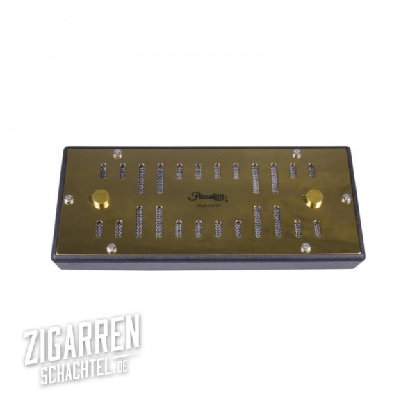 Passatore Befeuchter für 50-100 Zigarren gold