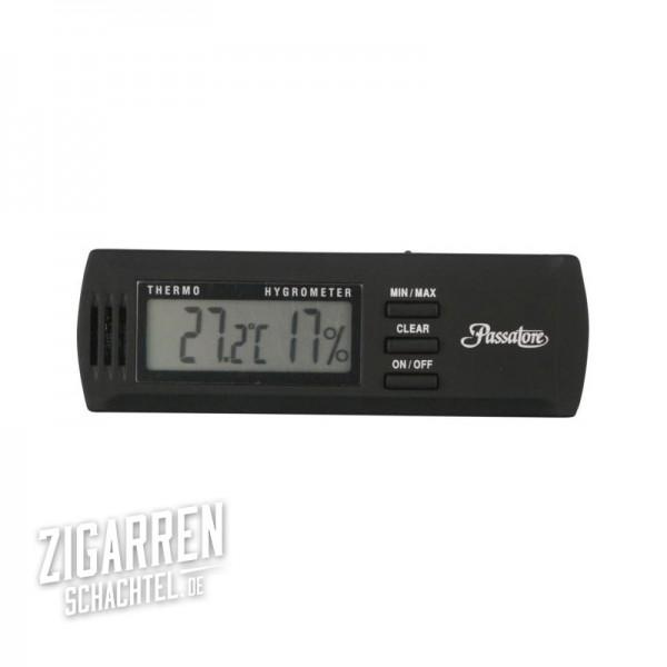 Passatore Digital Hygro-Thermometer, schwarz